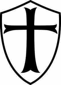 Templar Shield Die-Cut Decal Car Window Wall Bumper Phone