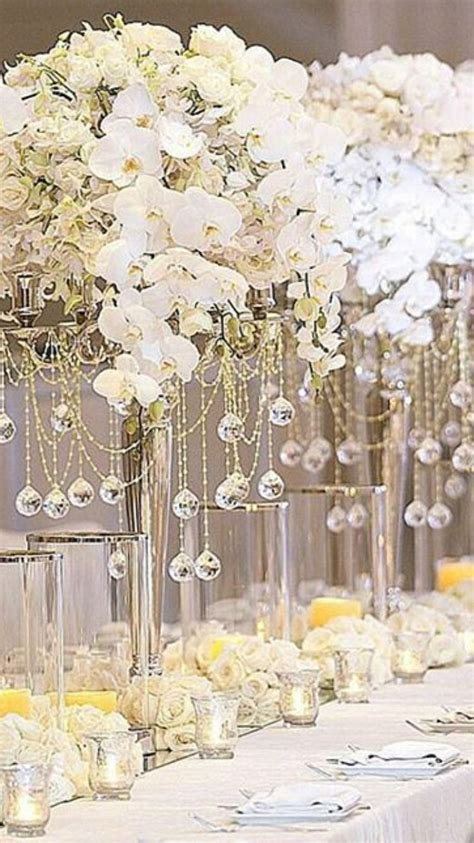 Orchids In Tall Centerpieces Tall Wedding Centerpieces