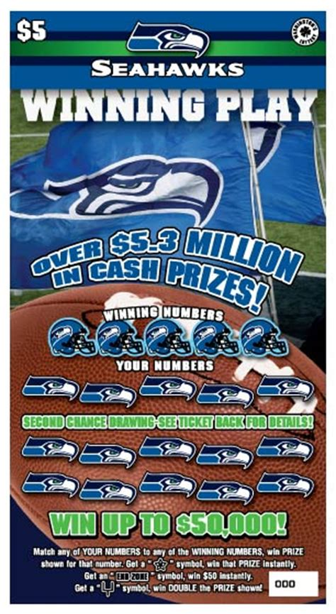 washingtons lottery releases seahawks scratch ticket
