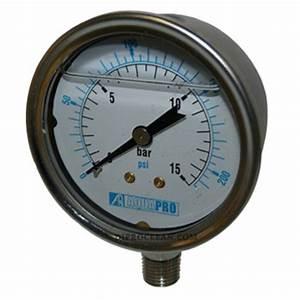 Manometre Pression Eau : manom tre vertical de pression d 39 eau indicateur de pression 1 4 pouce en filtration ~ Medecine-chirurgie-esthetiques.com Avis de Voitures