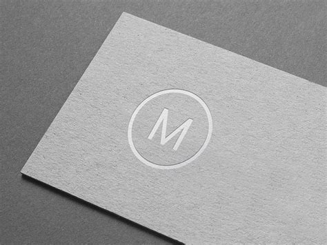 Embossed Paper Logo Mockup Is Created To Showcase Your Business Card Scanner Dealers In Delhi Note 9 Standard Gsm Holder Mr Porter Size Brochure Printing Cardscan Design Ideas For Graphic Designers And Software