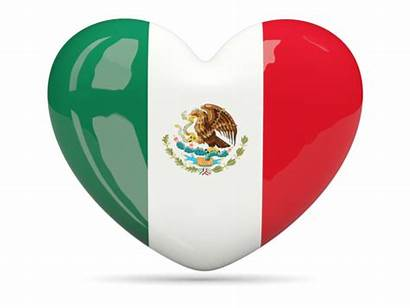 Mexico Heart Flag Icon Clipart Mexican Transparent