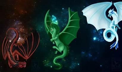 Elemental Dragon Christmas Deviantart Wallpapers Drawings Backgrounds