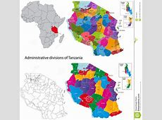 Tanzania Map Stock Image Image 19079841