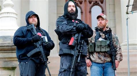 armed  wing protests  harbinger  fascism