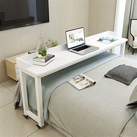 bed table overbed table  wheels rolling bed table