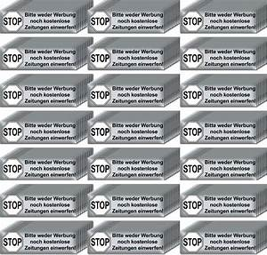 Briefkasten Keine Werbung : 200 aufkleber briefkasten stop bitte keine werbung reklame zeitungen einwerfen kaufen bei green it ~ Orissabook.com Haus und Dekorationen