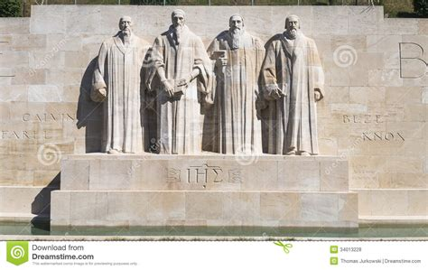 Reformation Wall In Geneva Stock Photo. Image Of