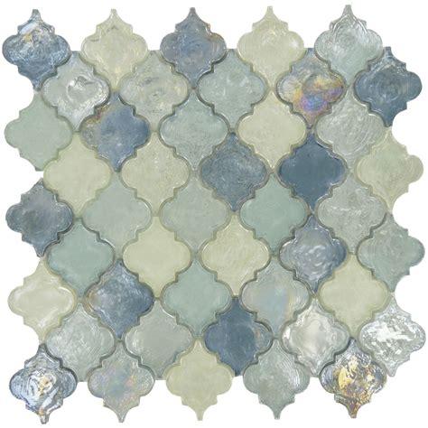 green tile kitchen backsplash iridescent arabesque tile blue glass tile backsplash
