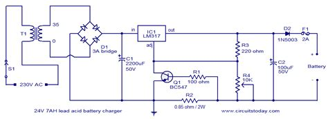 Lead Acid Battery Charger Circuit Electronic