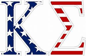 kappa sigma american flag greek letter sticker 25 With greek letter flags