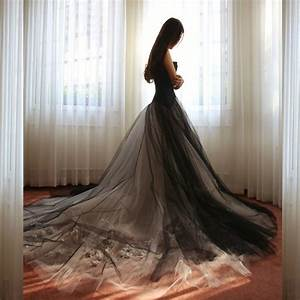 custom made black gothic floral lace wedding dresses 2017 With witch wedding dress