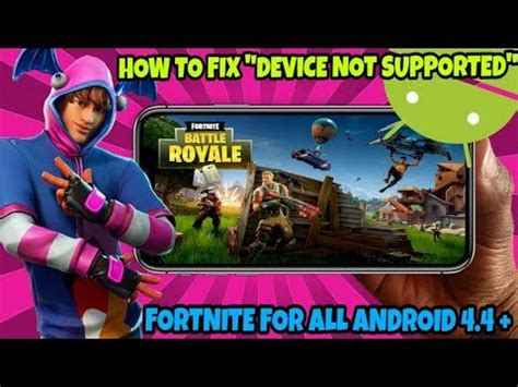 install fortnite   android  fix device