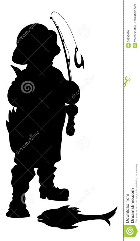 fisherman silhouette vector fisherman silhouette vector illustration stock vector
