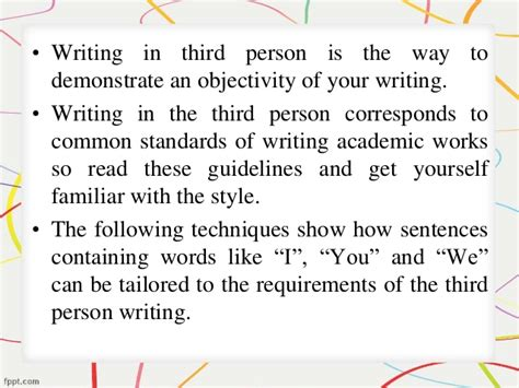 How Do You Write A Paper In Third Person by How To Write A Research Paper In The Third Person