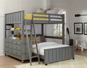 ne kids lake house full high loft bed with bed stone grey With other bedrooms mood booster full size headboard