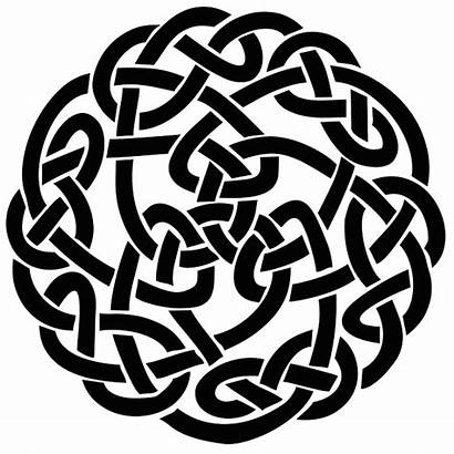 Celtic Knot Silhouette Tattoo Circular Stencil Irish