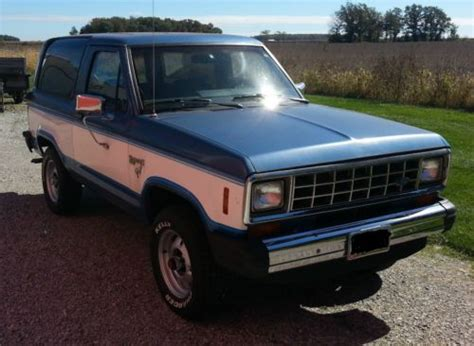 auto manual repair 1985 ford bronco ii regenerative braking purchase used 1985 ford bronco ii 4x4 2 door 2 8l v6 auto trans 2 speed manual t case in