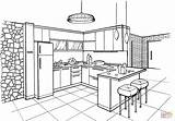Coloring Kitchen Pages Interior Printable Minimalist Drawing Colouring Sketch Supercoloring Colorear Para Dibujos Bedroom Nice Layout Minimalista Draw Visit sketch template