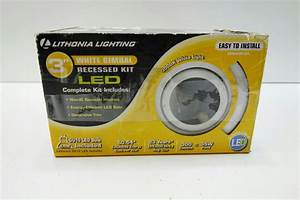 Lithonia lighting quot white led gimbal recessed kit lk gmw