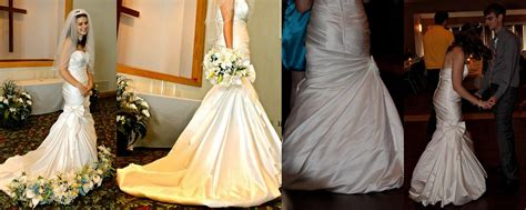 diy wedding dress bustle pure and simple life