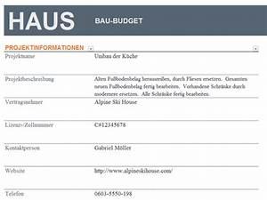 Hausbau Kosten Kalkulieren Excel : budget f r hausbau ~ Lizthompson.info Haus und Dekorationen