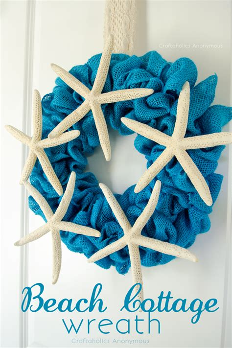 craftaholics anonymous burlap beach wreath