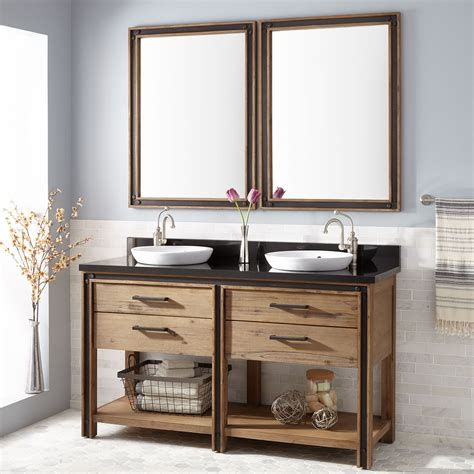 """Visually search the best led vanity mirror you'll love in 2021 and ideas. 60"""" Celebration Console Double Vanity for Semi-Recessed ..."""