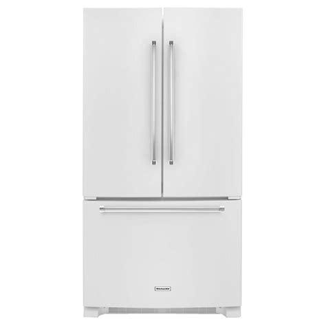 white door refrigerator kitchenaid 36 in w 25 2 cu ft door refrigerator
