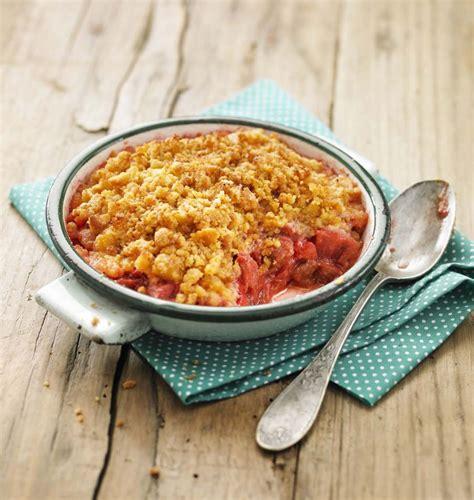 recette de crumble salé crumble fraises et rhubarbe les meilleures recettes de