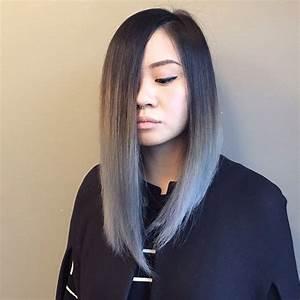 Blaue Haare Ombre : granny grey long bob hair inspo pinterest ~ Frokenaadalensverden.com Haus und Dekorationen