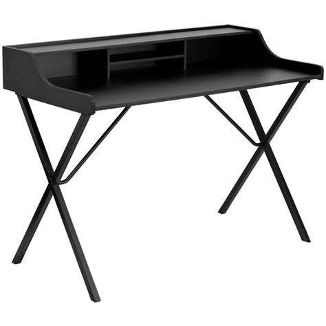 Black Writing Desk With Storage by New Black Laminate Writing Computer Laptop Notebook Desk