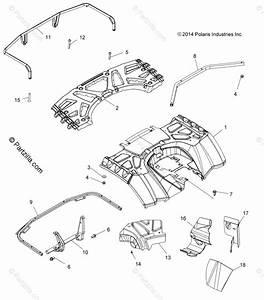 Polaris Atv 2015 Oem Parts Diagram For Body  Rear Cab