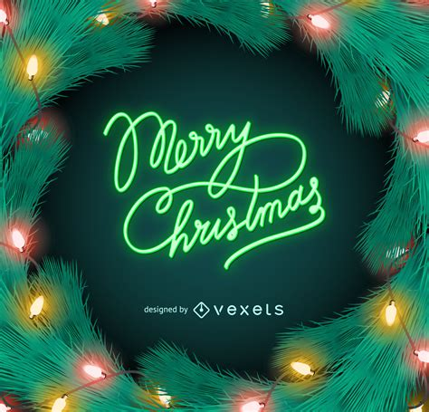 merry christmas neon lights sign vector download