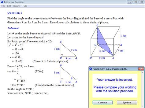 trigonometry worksheets year 10 year 10 interactive maths software mathematics software