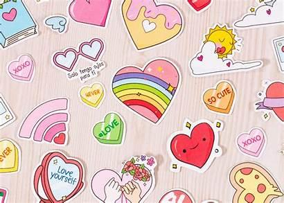 Stickers Amor San Valentin Craftingeek Dulce Kichink
