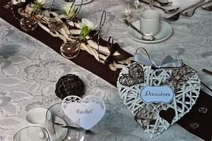 Centre De Table Chocolat : d coration de mariage th me c ur couleurs marron et blanc ~ Zukunftsfamilie.com Idées de Décoration