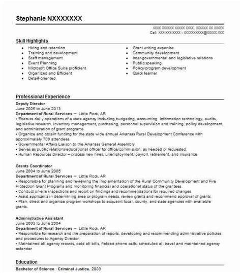 Assistant Media Planner Resume by Best Grants Administrative Assistant Resume Exle Livecareer