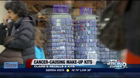 claires issues recall  asbestos   makeup