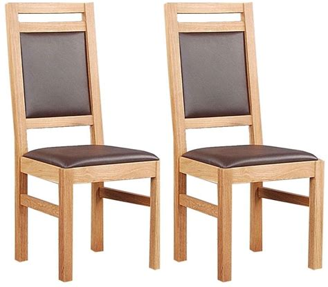 clemence richard oak dining chair with leather seat and