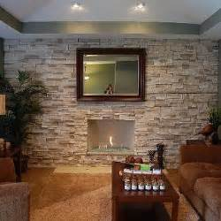 Hanging Ceiling Tiles by Stone Accent Wall Design Ideas