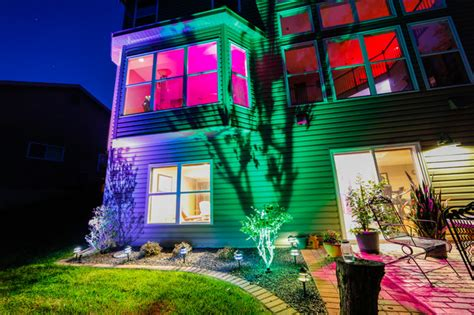 led landscape lighting color changing uplight and tier