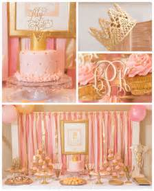 kara s party ideas pink gold princess themed birthday party