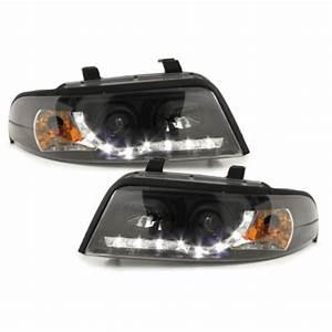 A4 B5 Scheinwerfer : drl tagfahrlicht optik scheinwerfer schwarz f r audi a4 s4 ~ Kayakingforconservation.com Haus und Dekorationen