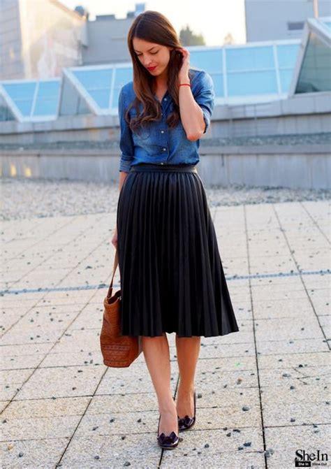 Best 25+ Black pleated midi skirt ideas on Pinterest | Black midi skirt Black pleated skirt and ...