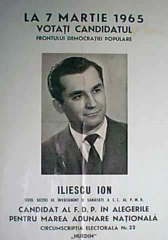 Ion Iliescu - Wikipediaen.m.wikipedia.org › wiki/Ion_Iliescu2 photos Ion Iliescu (Romanian pronunciation: [iˈon iliˈesku] (listen); born 3 March 1930) is a Romanian politician who served as President of Romania from 1989 until 1996, and from 2000 until 2004. From 1996 to 2000 and from 2004 until his retirement in 2008... Read moreIon Iliescu (Romanian pronunciation: [iˈon iliˈesku] (listen); born 3 March 1930) is a Romanian politician who served as President of Romania from 1989 until 1996, and from 2000 until 2004. From 1996 to 2000 and from 2004 until his retirement in 2008, Iliescu was a senator for the Social Democratic Party (PSD), of which he is honorary president. He joined the Communist Party in 1953 and became a member of its Central Committee in 1965. However, beginning with 1971, he was gradually marginalized by... Hide(document.querySelector(