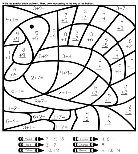 thanksgiving math worksheets second grade math coloring pages 1 coloring