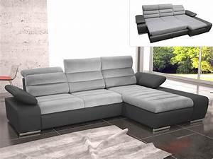 But Canapé Angle Convertible : canap angle convertible tissu simili 2 coloris mirabeau ~ Teatrodelosmanantiales.com Idées de Décoration