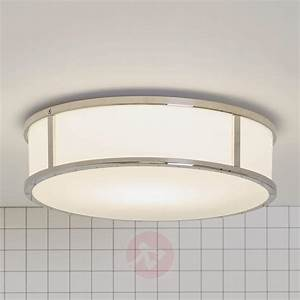 Mashiko round bathroom ceiling light lights