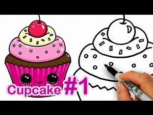 How to Draw a Cartoon Birthday Celebration Cake Cute and ...